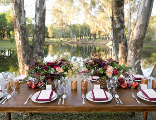 stunning berry hued wine country wedding inspiration 9 500x384